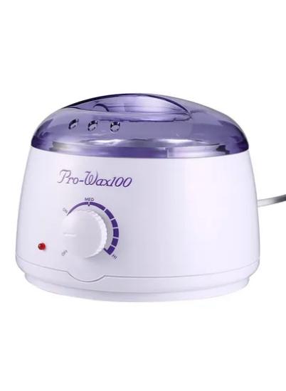صورة جهاز تسخين الشمع الكهربائي مع عصا فرد الشمع أبيض/أرجواني