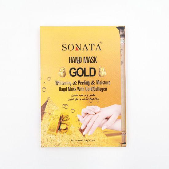 صورة قناع لليدين مقشر ومرطب لليدين بخلاصة الذهب والكولاجين من سوناتا