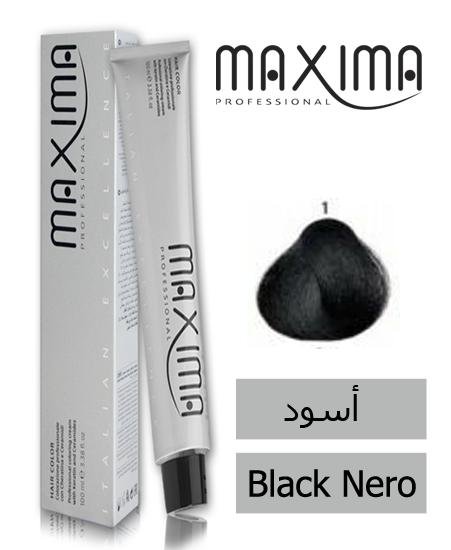 صورة ماكسيما صبغة شعر مع الكيراتين والسيراميد أسود رقم 1 ( 100 مل)